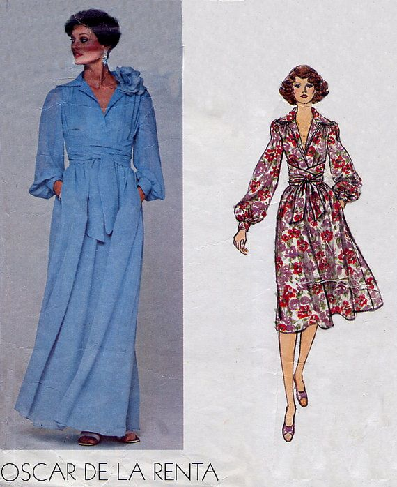 Evening dress patterns vogue wrap