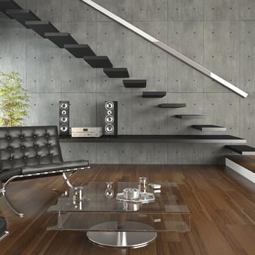 Salon avec escalier noir | MON SEJOUR | Pinterest | Deco salon ...