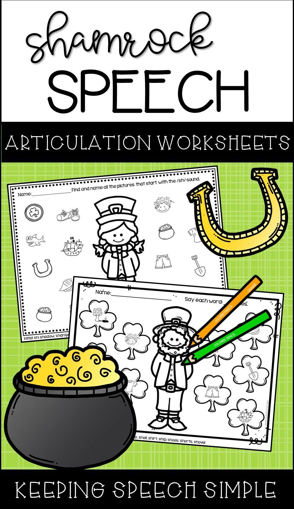 St Patrick S Day Speech No Prep Articulation Worksheets Articulation Worksheets Speech And Language Speech Activities [ 1701 x 983 Pixel ]