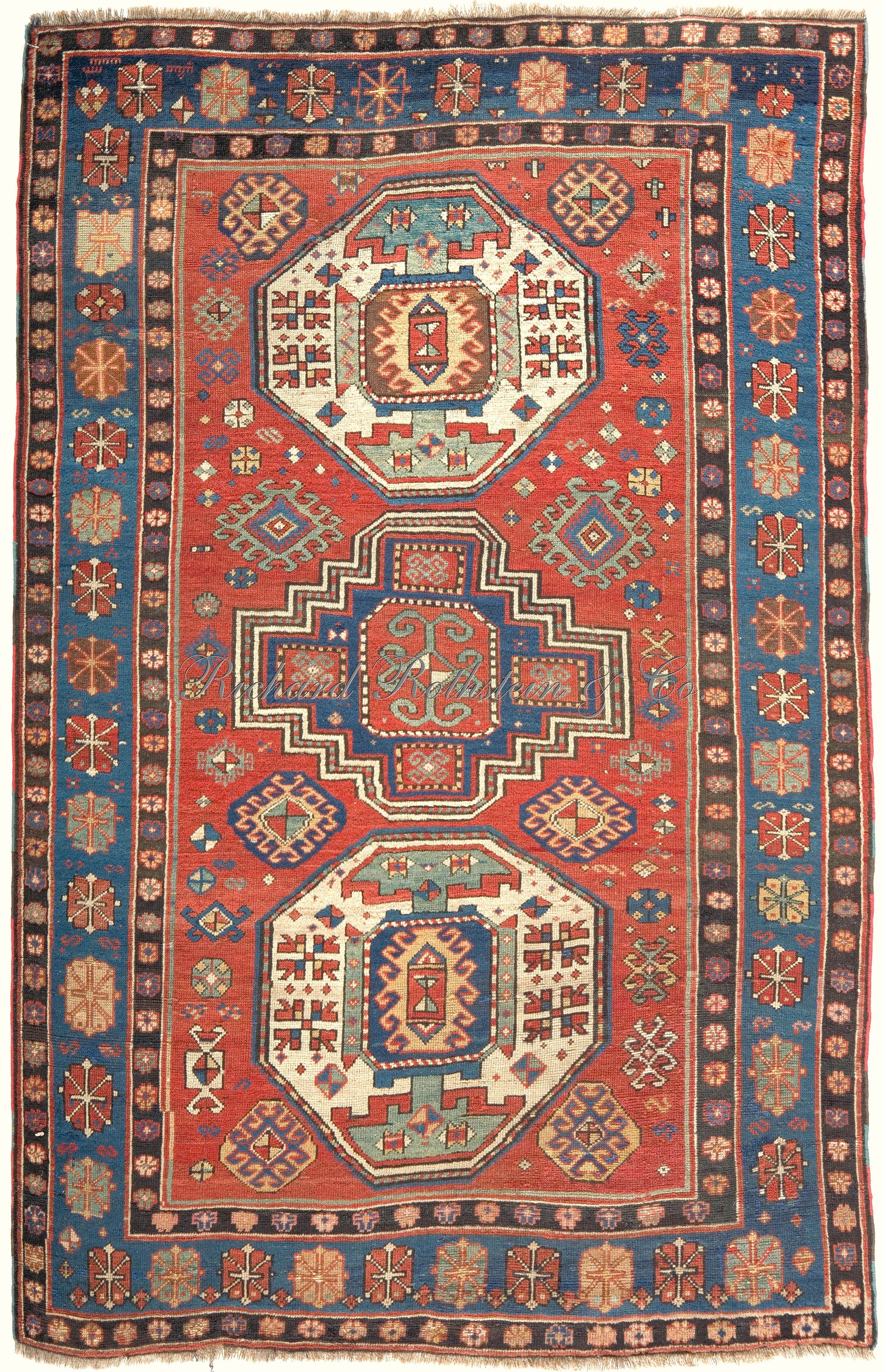 Antique Kazak Rug Antkaza019