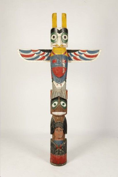 how to draw a native american totem pole