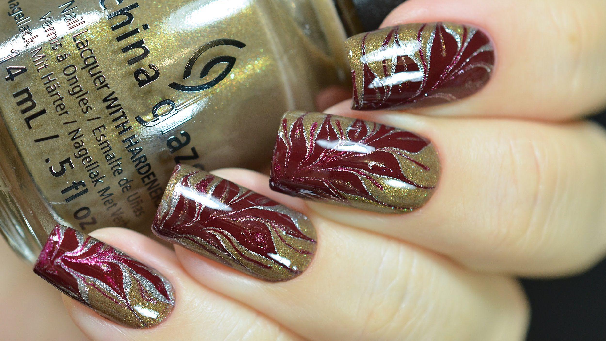 Dry Marble Nail Art - YouTube | Vídeos Unhas | Pinterest | Nail art ...