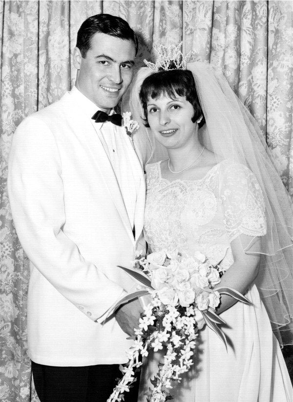 Virginia Tsalbins & George Christy on their wedding day July 12 ...