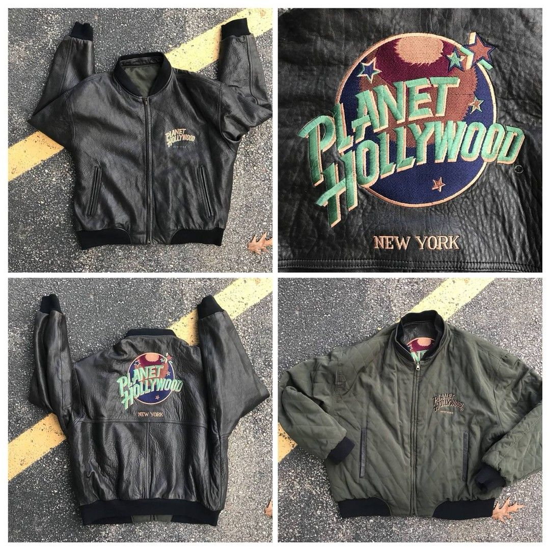Alienthriftship Posted To Instagram Vintage 1990 Reversible Planet Hollywood Leather Bomber Jacket Leather Bomber Jacket Planet Hollywood Leather Bomber [ 1080 x 1080 Pixel ]
