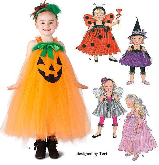 CHILD HALLOWEEN TUTU Costume Pattern - Pumpkin Witch Fairy Princess Lady Bug Costumes  sc 1 st  Pinterest & CHILD HALLOWEEN TUTU Costume Pattern - Pumpkin Witch Fairy Princess ...