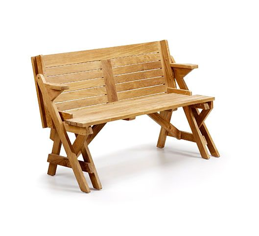 Banco Jardín Teka combertible en mesa | caseta | Pinterest | Banco ...