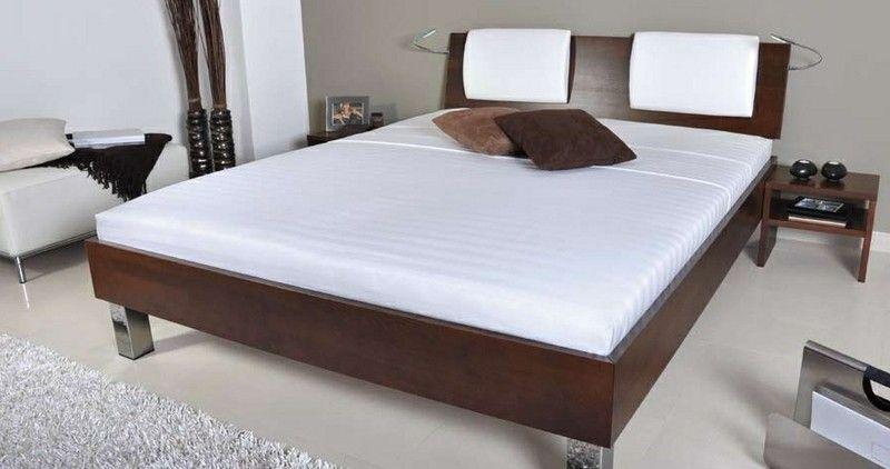 Posteľ KLÁRA - plné čelo + 2x záhlavník (buk) | Nabytkarstvo.sk - Eshop s nábytkom
