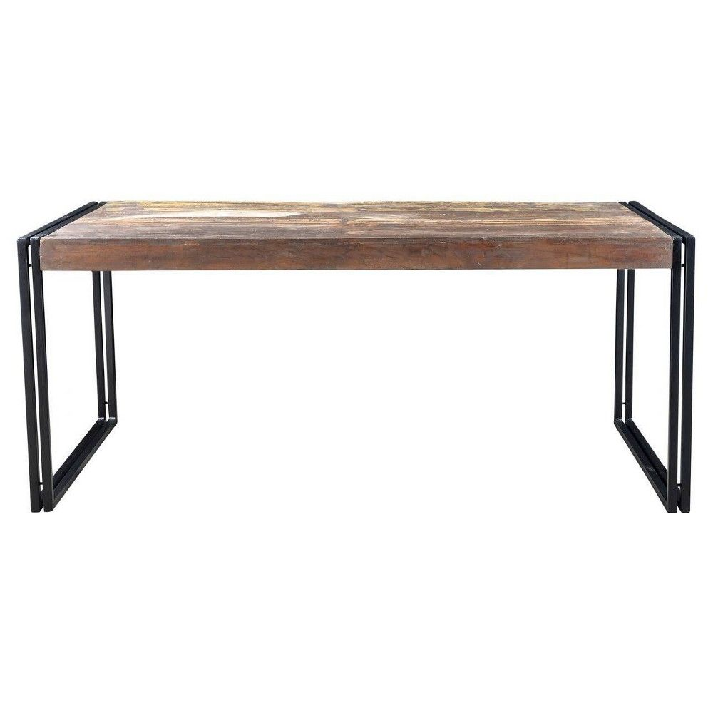 Old Reclaimed Wood 71 Dining Table With Iron Legs Timbergirl In