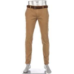 Photo of Alberto Men's Chinos Charles trousers, slim fit, cotton, camel yellow Alberto