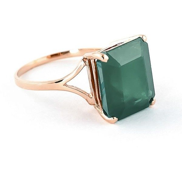 Emerald Ring 55ct in 9ct Rose Gold 14145 MXN liked on