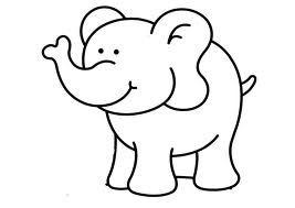 dibujo elefante infantil  Buscar con Google  Dibujos  Pinterest