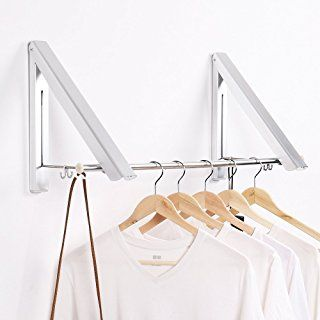 Over the Door Clothes Hanger Folding Metal Space Saver Collapsible Valet Holder