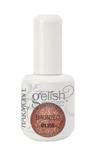 Rose Gold Gel Nail Polish : polish, Polish?, Please, Harmony, Gelish, Polish, -Bronzed, Polish,, Glitter, Nails,, Colors