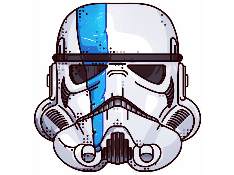 Star Wars Stormtrooper Star Wars Helmet Star Wars Illustration Star Wars Painting