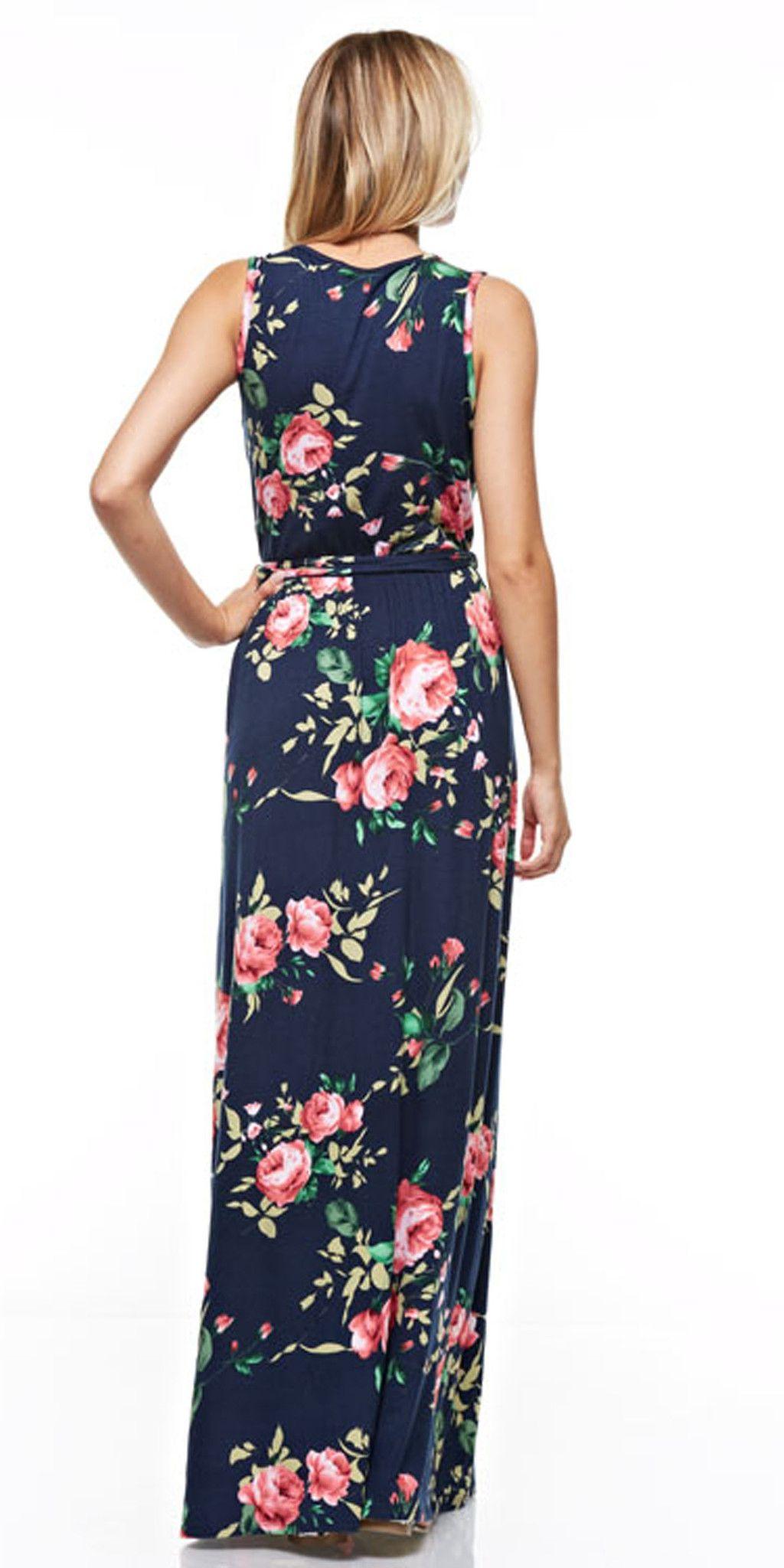 ec8f0f443f Sleeveless Floral Maxi Dress
