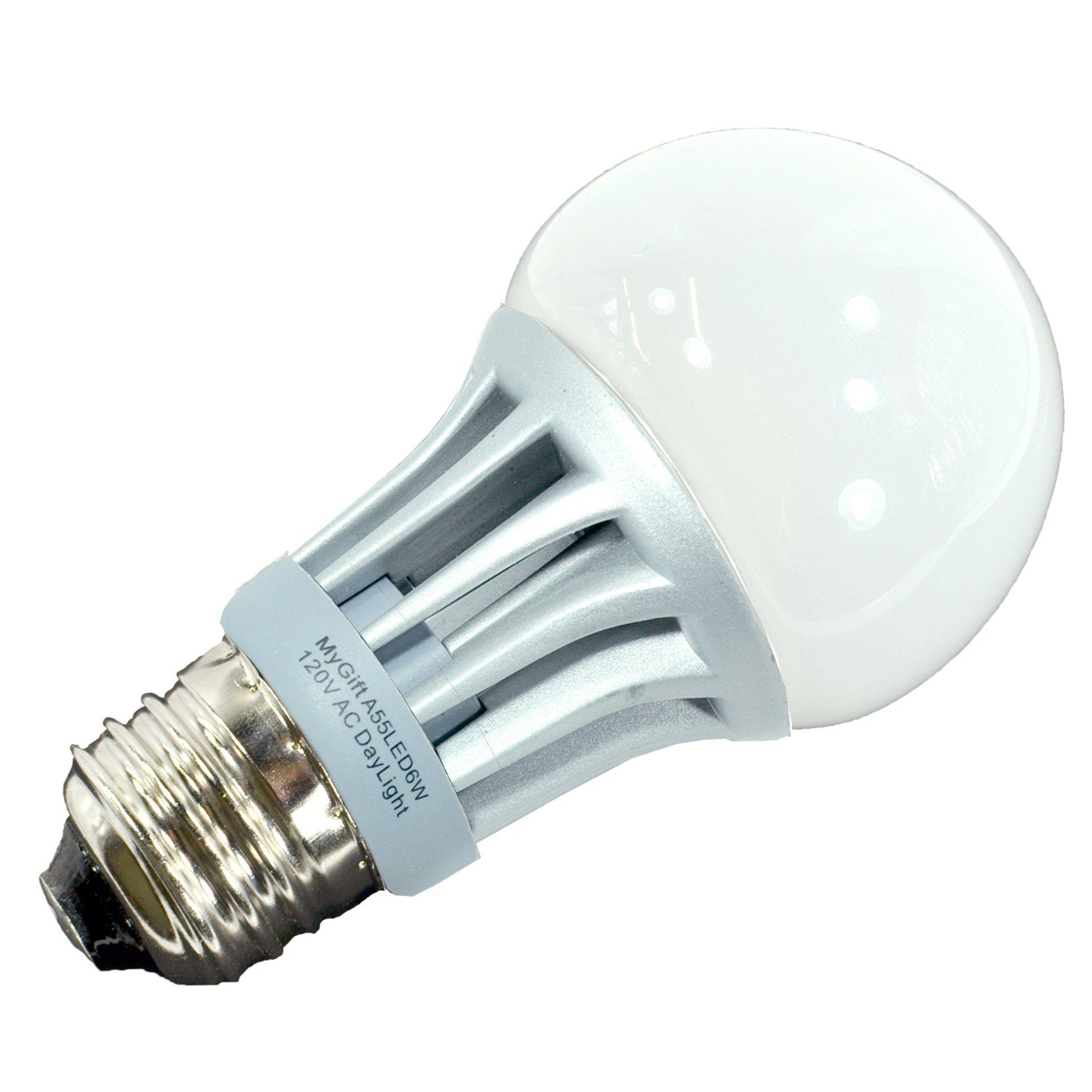Mygift 6w Led Standard Size 60 Watt A19 Replacement Daylight Spectrum High Efficiency Energy Saver Home Light Bulb 6000k Day Led Light Bulb Lamp Light Led Bulb
