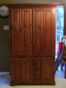 Armoire Mahogany Stained Solid Wood Ottawa