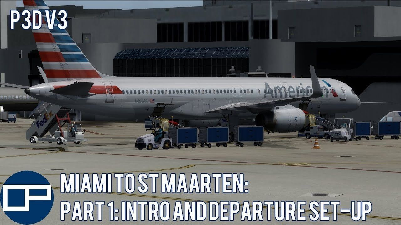 The first part of my flight from Miami International
