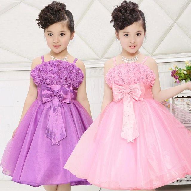 Vestido de Partido de la muchacha Rose Petal Kids Girl Princess ...