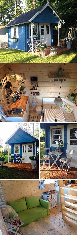 gartenhaus bunkie 40 gelungener aufbau und einrichtung decoracion pinterest casas. Black Bedroom Furniture Sets. Home Design Ideas