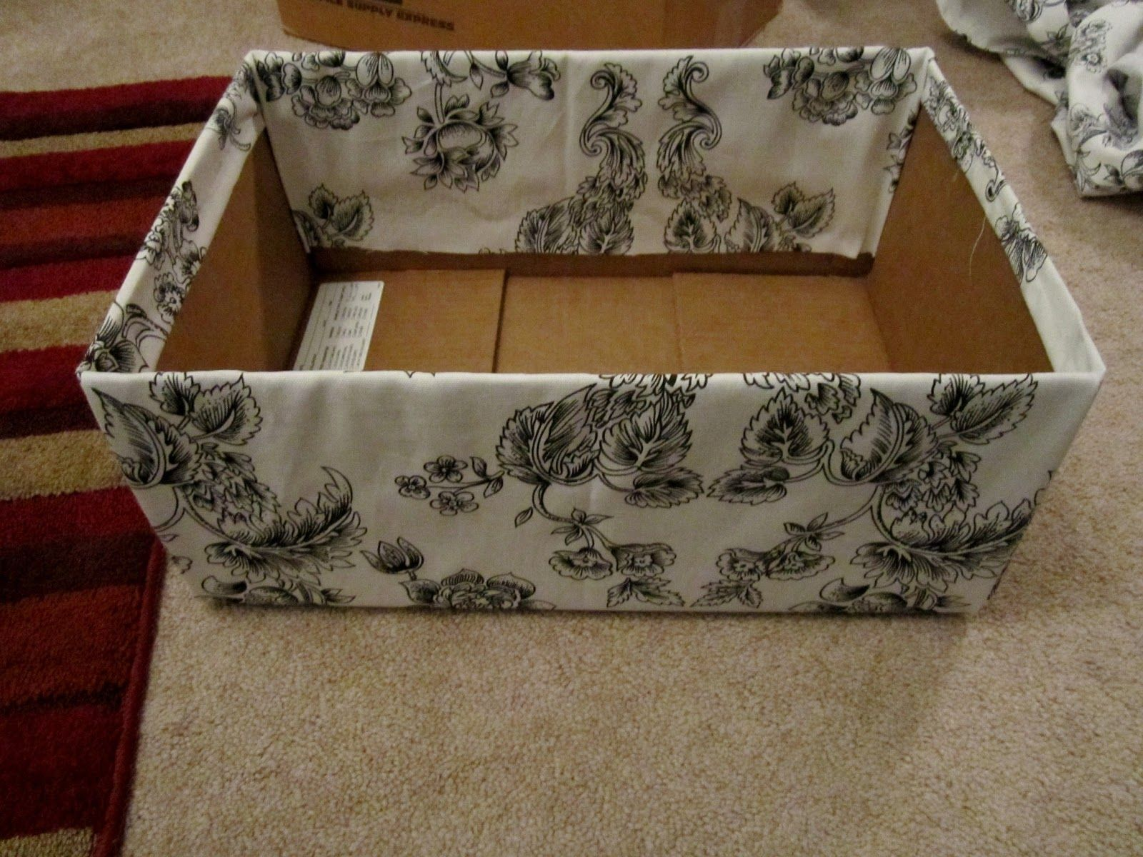 Restoration Beauty: DIY: Storage/Decorative Boxes With Plain Boxes Or Even  Left Over Diaper Boxes!