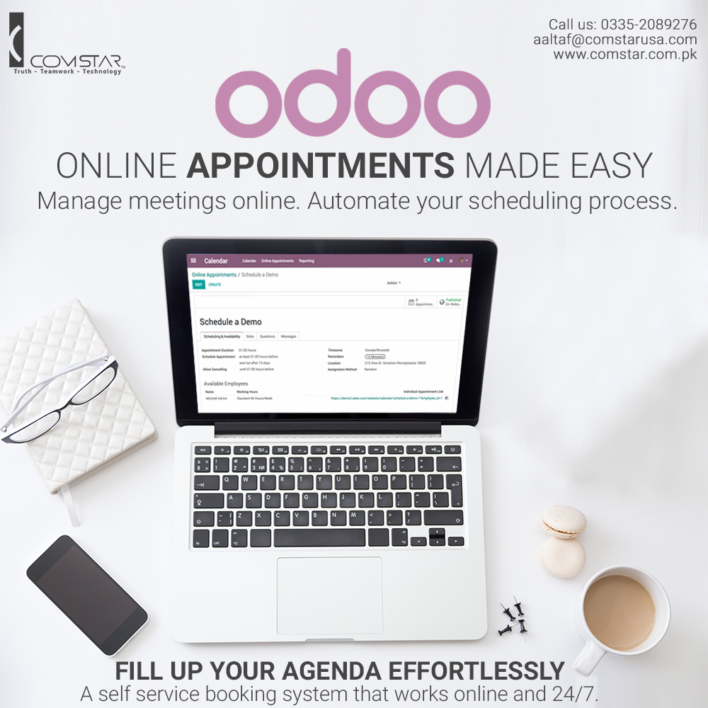 Appointment Scheduling is an application in Odoo app store