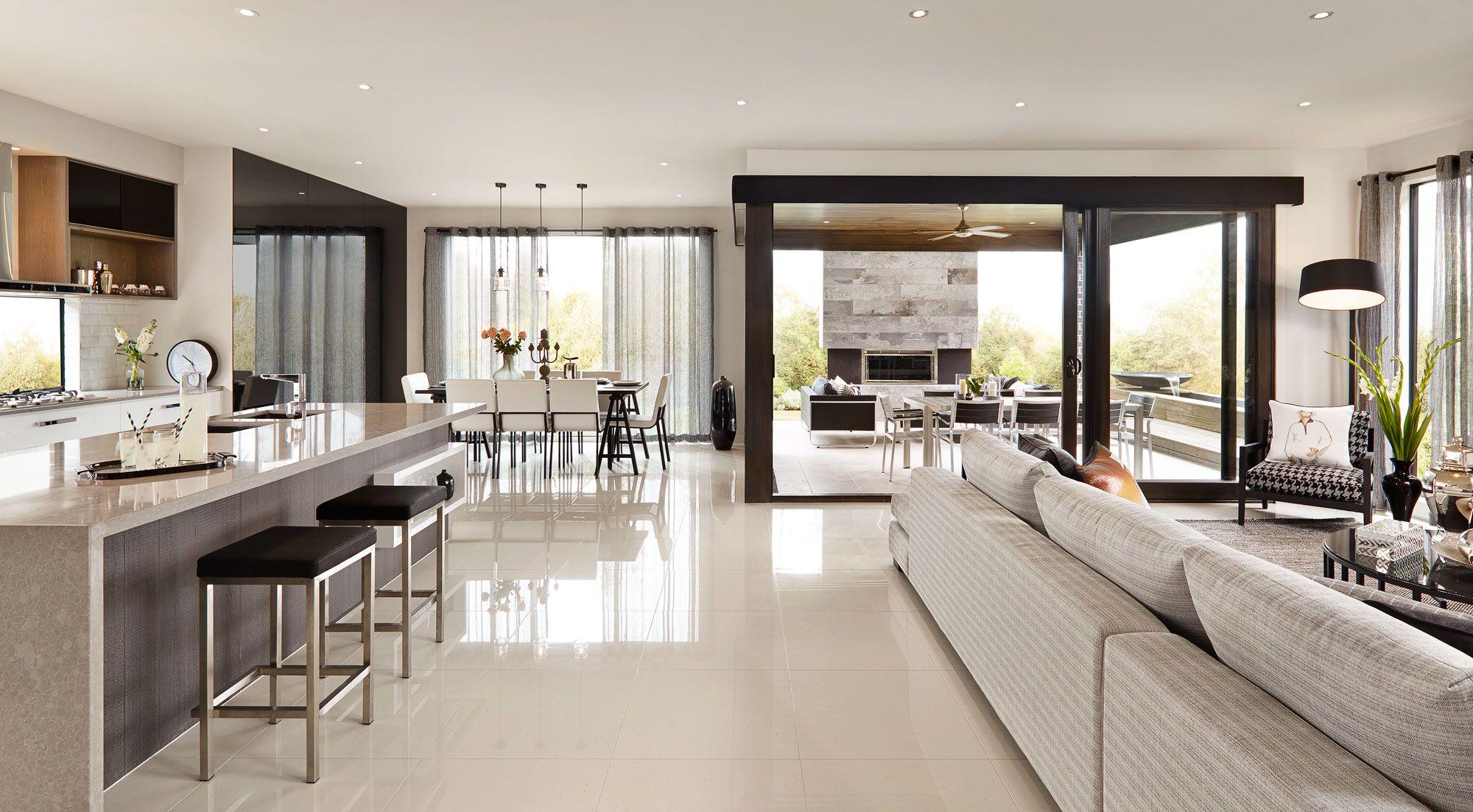 Sorrento living salon s jour casas cocinas et casas for Casas pequenas modernas interiores