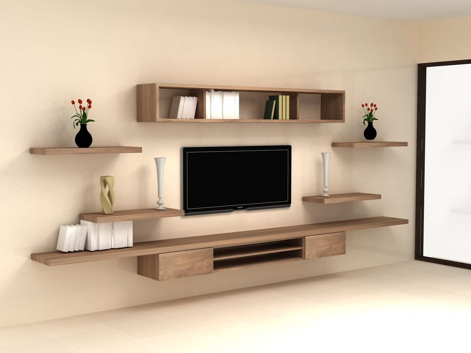 Wall Mounted Tv Design In Living Room Living Room Tv Wall Tv Wall Decor Wall Mounted Tv Cabinet