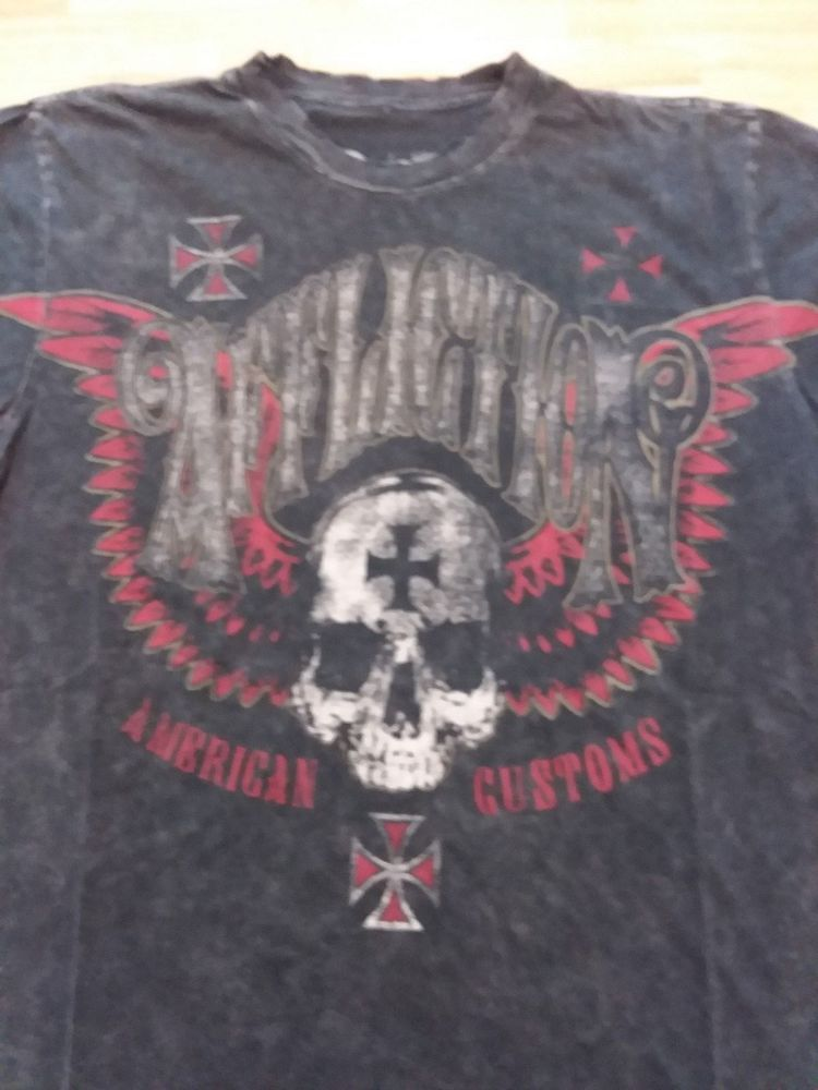 e6c90758e748 Affliction American customs T shirt L large #fashion #clothing #shoes  #accessories #mensclothing #shirts #ad (ebay link)