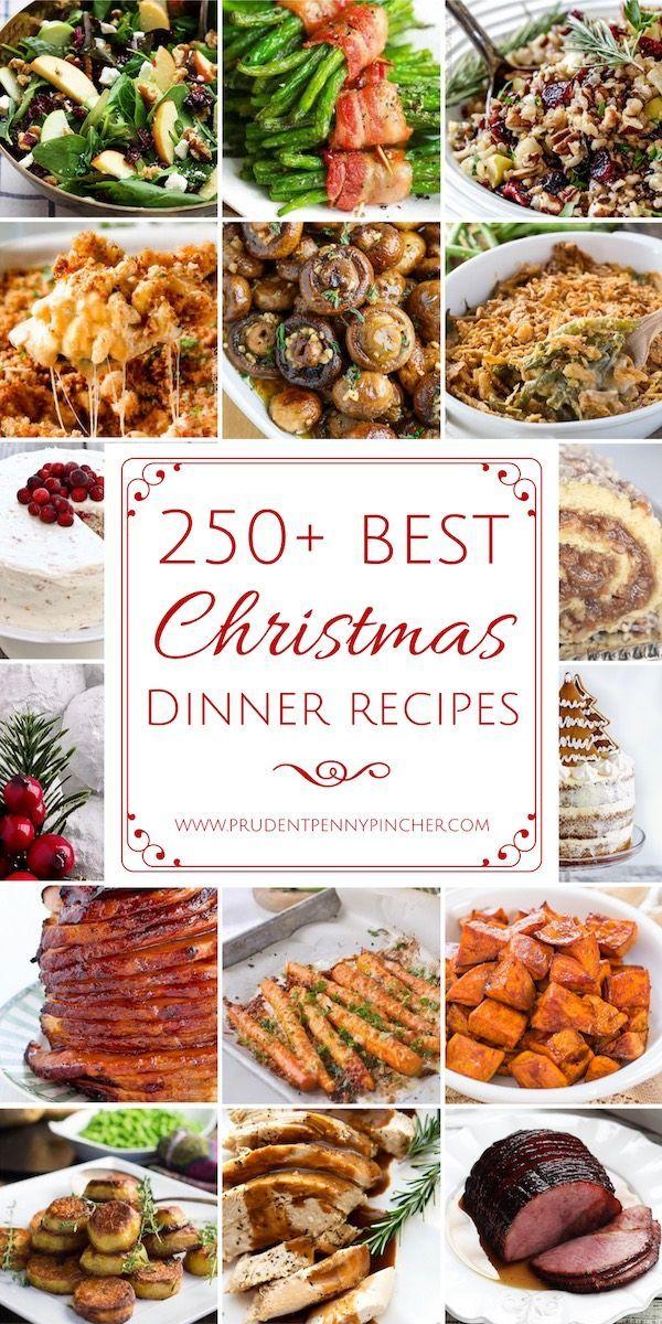 250 Best Christmas Dinner Recipes #Christmas #ChristmasDinner #ChristmasRecipes #ChristmasDesserts #ChristmasAppetizers #christmas recipes dinner traditional 250 Best Christmas Dinner Recipes