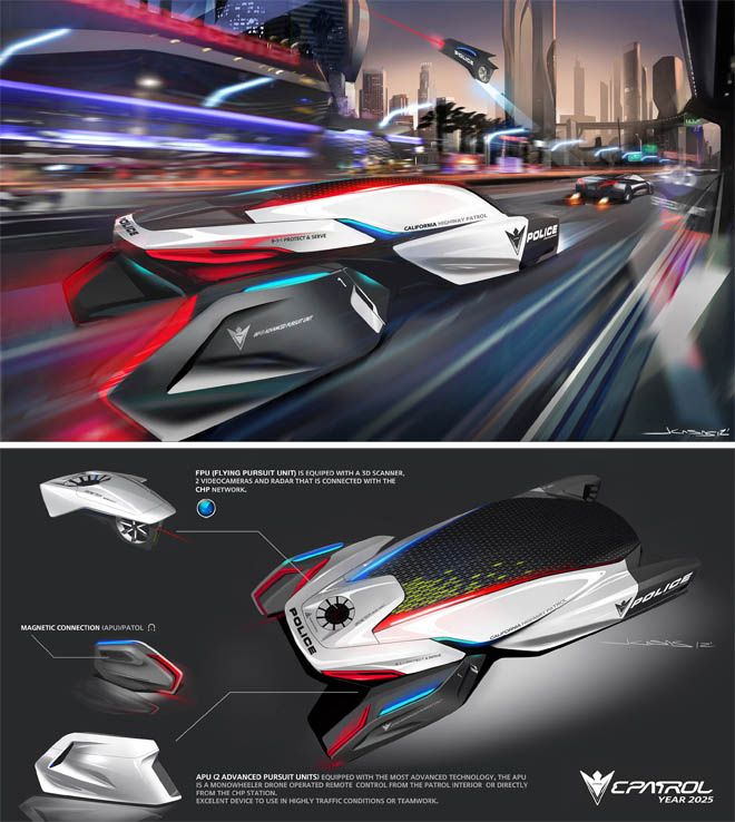 Auto Industry's Design Maestros Envision The Cop Cars Of