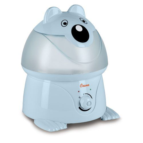 Crane Adorable Ultrasonic Cool Mist Humidifier With 2 1 Gallon Output Per Day Blue Panda For Ultrasonic Cool Mist Humidifier Cool Mist Humidifier Humidifier