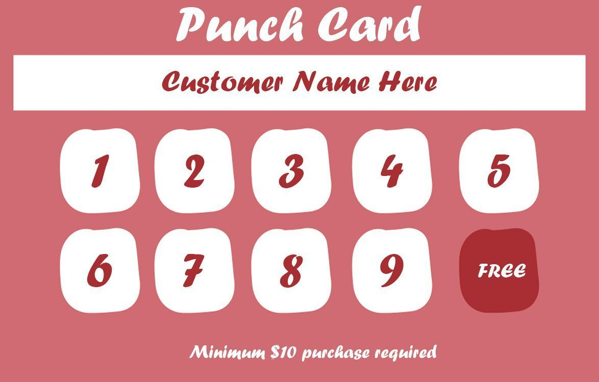 50 Punch Card Templates For Every Business Boost Regarding Business Punch Card Template Free Cumed Punch Cards Loyalty Card Template Card Templates Free