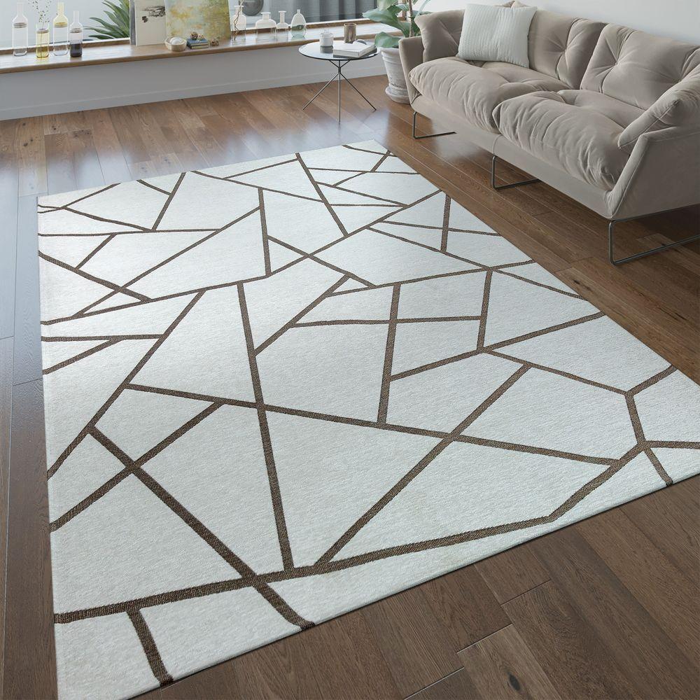 Wohnzimmer Teppich Geometrisch Creme Teppich Geometrisch Teppich Geometrische Muster