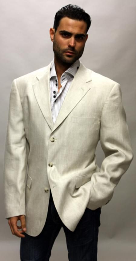 Cream Sportcoat that make you look good for only US $89. Buy more ...