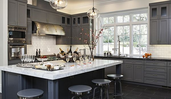 Grey In The Kitchen Is One Of The Hottest Color Trends Of The Year | Kitchen  Cabinet Pics | Pinterest | Kitchens And Cabinet Design Great Ideas