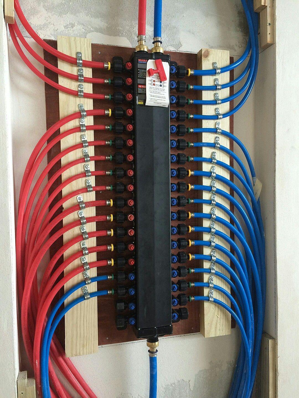 Pex Manifold Pex Plumbing Diy Plumbing Plumbing Installation