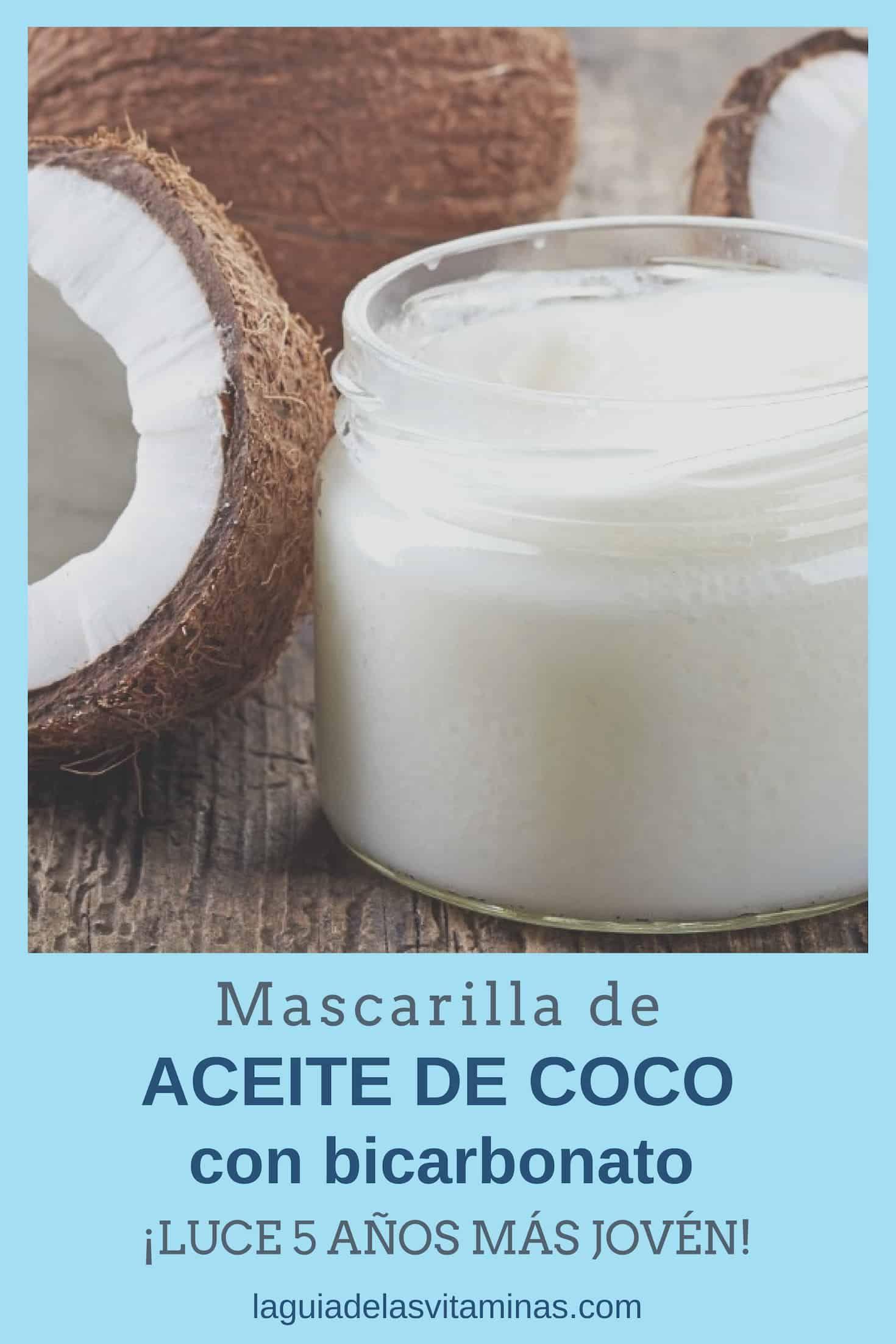 Mascarilla de aceite de coco con bicarbonato: ¿Para mirarte 5 años más joven?
