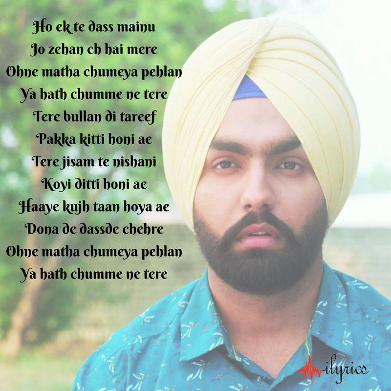 Hath Chumme Lyrics Ammy Virk Lyrics Songs