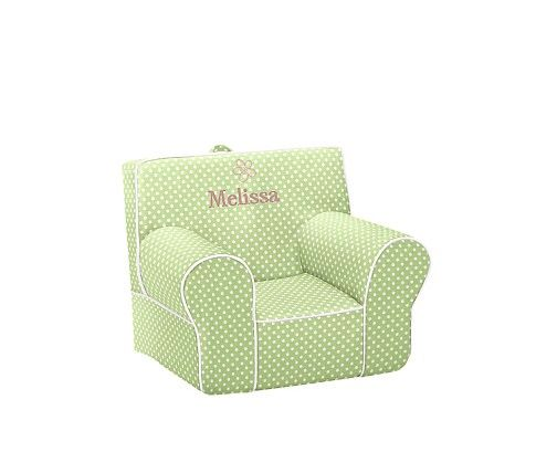 Green with White Piping Mini Dot Anywhere Chair   Pottery ...