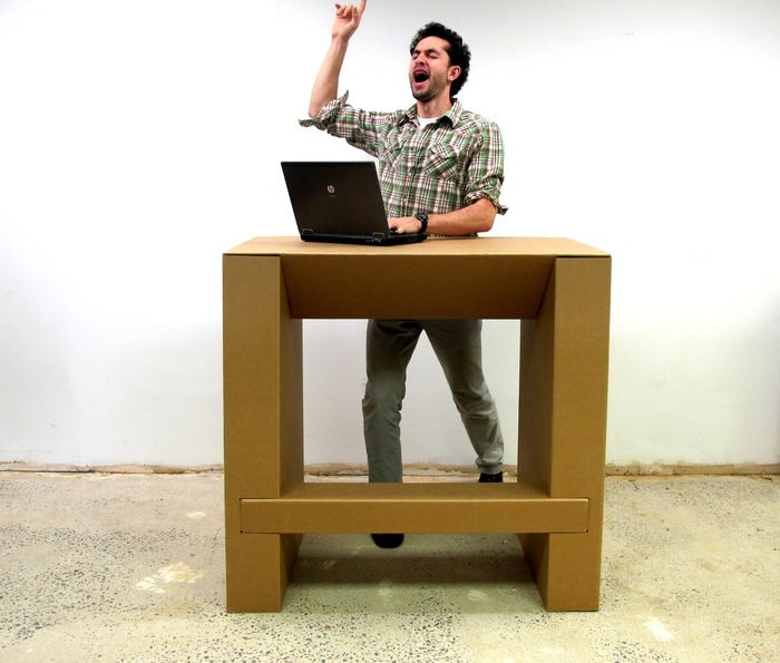 The Cardboard Standing Desk Stand Up For Creativity By Chairigami