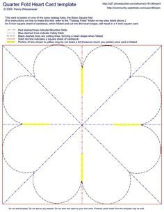 Quarter Fold Heart Card Template Paterns Pinterest Cards