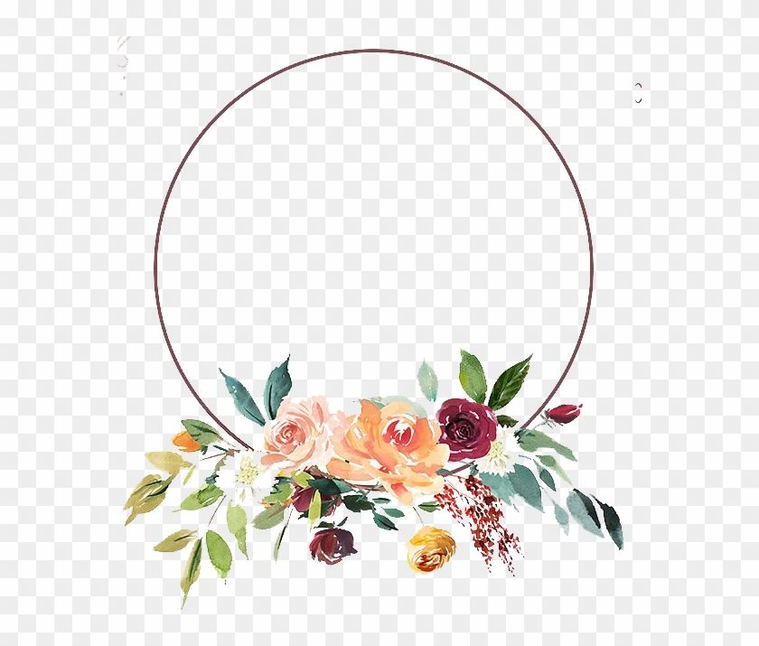 Find Hd Floral Png Floral Png Round Flower Frame Png Transparent Png To Search And Download More Free Transparent Pn Flower Frame Png Flower Frame Floral