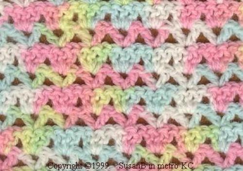 Alternating V Shell Afghan 1 Pattern By Susanb Crochet Baby