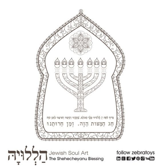 Prayers and Blessings-Passover Coloring Book-5 Printable | Coloring ...