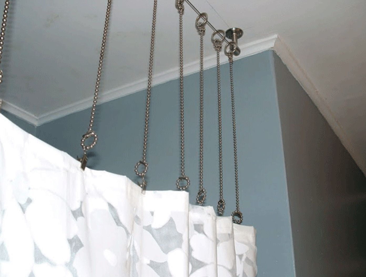 Ceiling mount shower curtain rod for the home pinterest shower