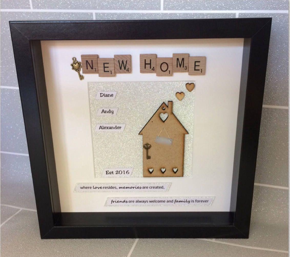 Personalised new home scrabble tile box frame, Handmade housewarming ...