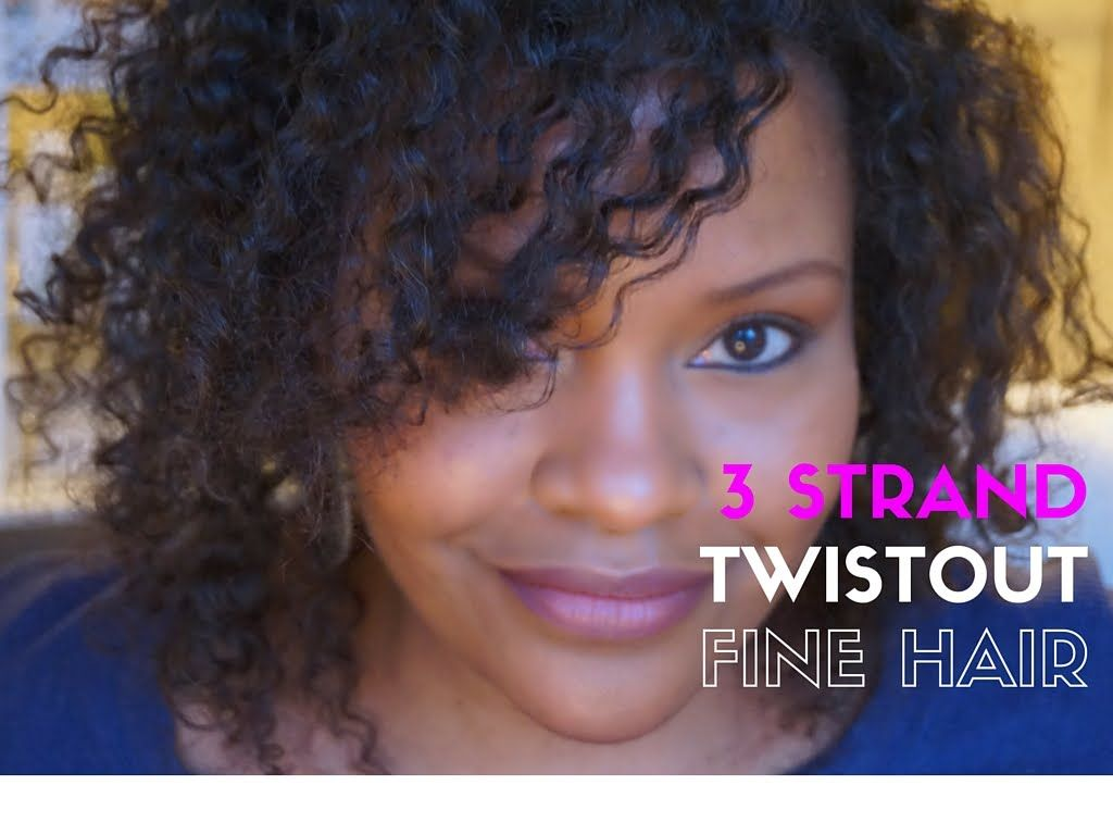 fine natural hair style 3 strand