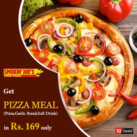 Make your #weekend happier with exclusive #pizzadeals offered by Smokin' JOE'S PIZZA Chandigarh Get 1 Regular Pizza + 2 Slices Of #GarlicBread  + #SoftDrink In Just Rs.169  #pizzadiscount #pizzaoffers #foodlovers #Chandigarh #Mohali #Panchkula