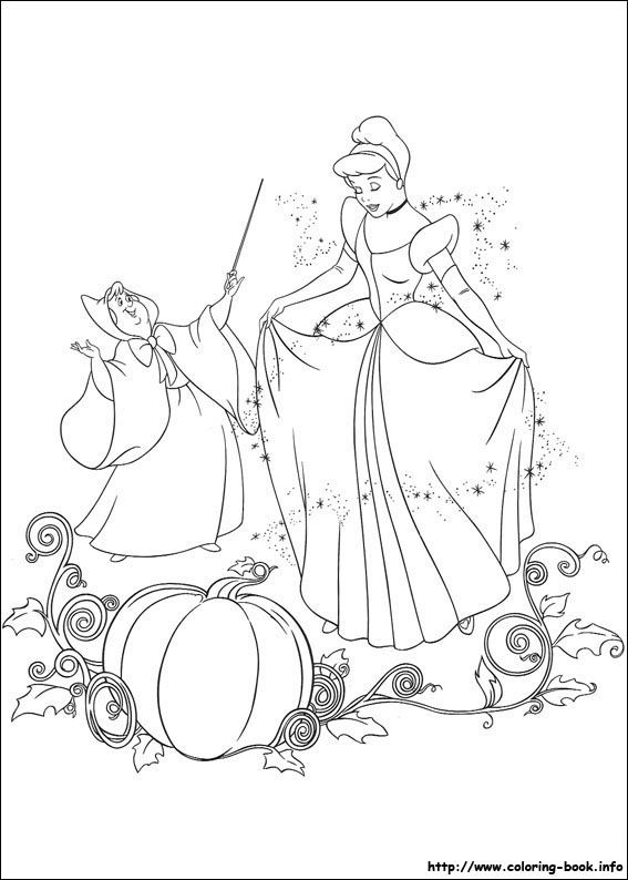 Cinderella coloring picture | LOU- color pg/ca | Pinterest ...